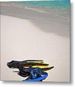 Snorkeling Gear. Metal Print by Fernando Barozza
