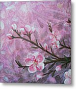 Snow Blossom Metal Print by Arlissa Vaughn