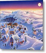 Snow Covered Village Metal Print by Robin Moline
