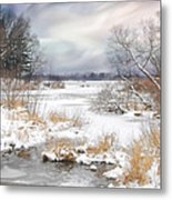Snow Lake Metal Print by Mary Timman