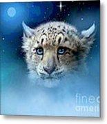 Snow Leopard Cub Metal Print by Robert Foster