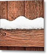 Snow On Fence Metal Print by Tom Gowanlock