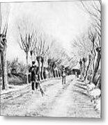 Snow Scene At Etten Metal Print by Vincent van Gogh