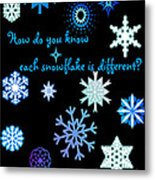 Snowflakes 2 Metal Print by Methune Hively