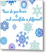 Snowflakes Metal Print by Methune Hively