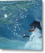 Snowman By Jrr Metal Print by First Star Art