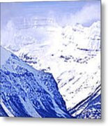 Snowy Mountains Metal Print by Elena Elisseeva