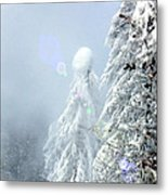 Snowy Trees Metal Print by Kae Cheatham