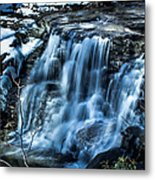 Snowy Waterfall Metal Print by Jahred Allen