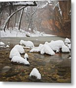 Snowy West Fork Metal Print by Peter Coskun