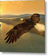 Soaring Eagle Metal Print by Ray Downing