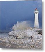 Sodus Bay Lighthouse Metal Print by Everet Regal
