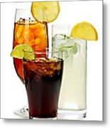 Soft Drinks Metal Print by Elena Elisseeva