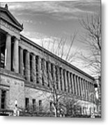 Soldier Field In Black And White Metal Print by David Bearden