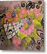 Song Of My Heart And Soul Metal Print by Meldra Driscoll