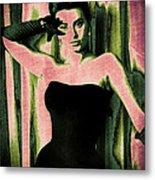Sophia Loren - Pink Pop Art Metal Print by Absinthe Art By Michelle LeAnn Scott