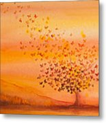 Soul Freedom Watercolor Painting Metal Print by Michelle Wiarda