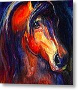 Soulful Horse Painting Metal Print by Svetlana Novikova