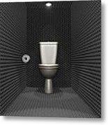 Soundproof Toilet Cubicle Metal Print by Allan Swart