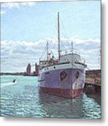Southampton Docks Ss Shieldhall Ship Metal Print by Martin Davey