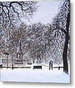 Southampton Watts Park In The Snow Metal Print by Martin Davey