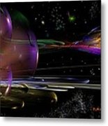 Space Abstraction Metal Print by David Lane