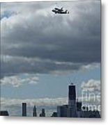 Space Shuttle Enterprise Flys Over Nyc Metal Print by Steven Spak
