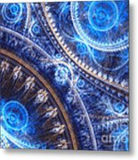 Space-time Mesh Metal Print by Martin Capek