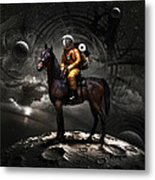 Space Tourist Metal Print by Vitaliy Gladkiy