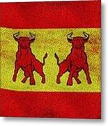 Spanish Bulls Metal Print by Jared Johnson