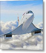 Speeding Above The Clouds Metal Print by Dale Jackson