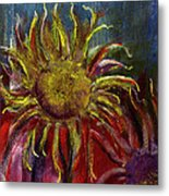 Spent Sunflower Metal Print by David Patterson