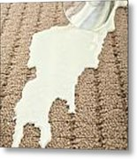 Spilled Milk On Carpet  Metal Print by Colin and Linda McKie