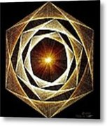 Spiral Scalar Metal Print by Jason Padgett