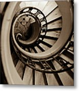 Spiral Staircase Metal Print by Sebastian Musial