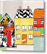 Spirit House Row Metal Print by Linda Woods