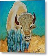 Spirit White Buffalo Metal Print by Mike Holder