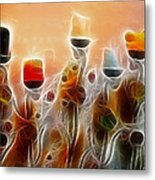 Spiritual Candles Metal Print by Music of the Heart