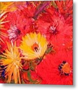 Splashy Floral II Metal Print by Anne-Elizabeth Whiteway