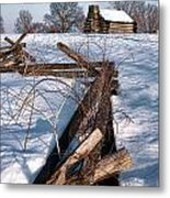 Split Rail And Nation Metal Print by Olivier Le Queinec