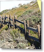 Split Rail Fence Yellow Metal Print by Barbara Snyder