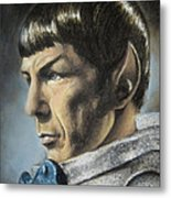 Spock - The Pain Of Loss Metal Print by Liz Molnar