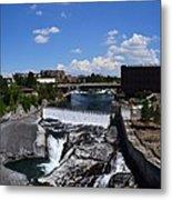 Spokane Falls And Riverfront Metal Print by Michelle Calkins