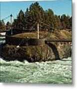 Spokane Falls - Spokane Washington Metal Print by Beve Brown-Clark Photography