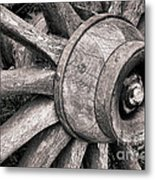 Spokes And Axle Metal Print by Olivier Le Queinec