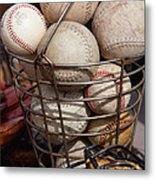 Sports - Baseballs And Softballs Metal Print by Art Block Collections
