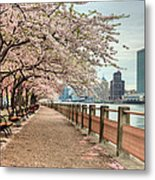 Spring Along The East River Metal Print by JC Findley