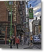Spring And Mulberry - Street Scene - Nyc Metal Print by Madeline Ellis