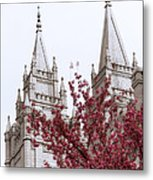 Spring At The Temple Metal Print by Chad Dutson