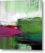Spring Became Summer- Abstract Painting  Metal Print by Linda Woods